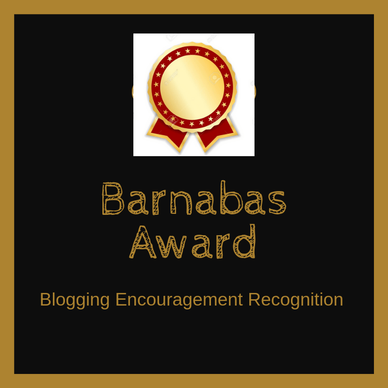 the Barnabas award for Bloggers